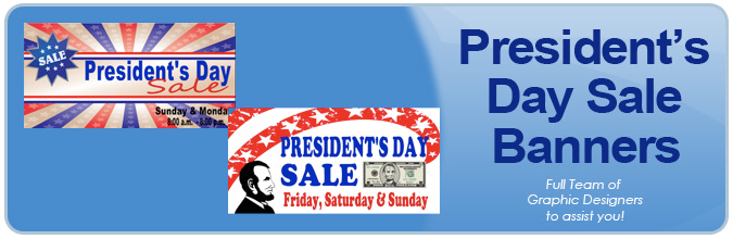 President's Day Sale Banners from Banners.com