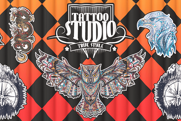 Tattoo Studio Fabric Banner