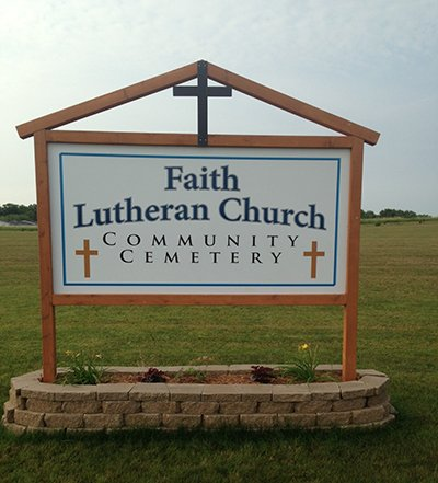 Polymetal Sign for Faith Lutheran Church | Banners.com