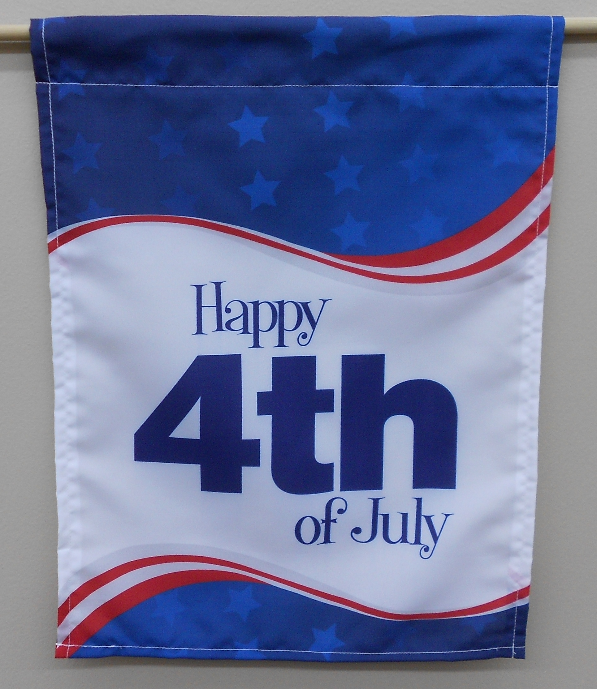 Custom 4th of July Garden Flag