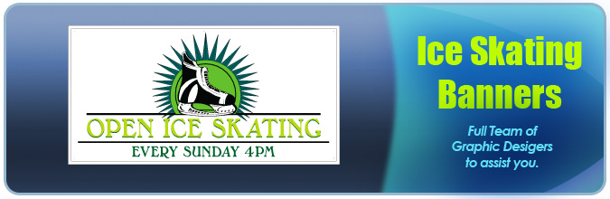 Skating Banners Header Graphic