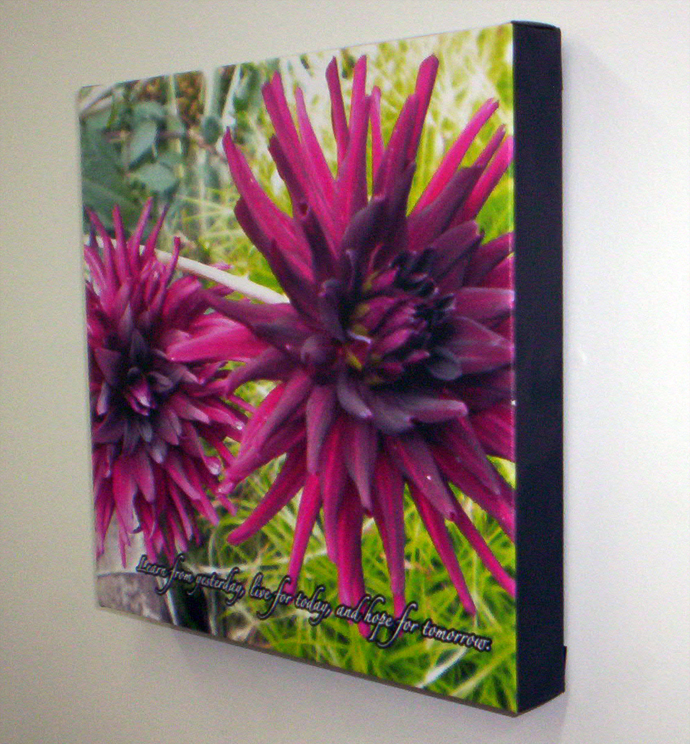 Flower Framed Canvas Print from Banners.com
