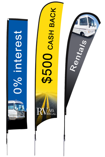 RV Dealership Razor Flags | Banners.com
