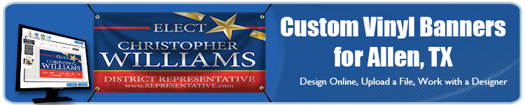 Custom Vinyl Banners for Allen, TX from Banners.com