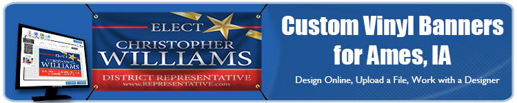 Custom Vinyl Banners for Ames, IA from Banners.com