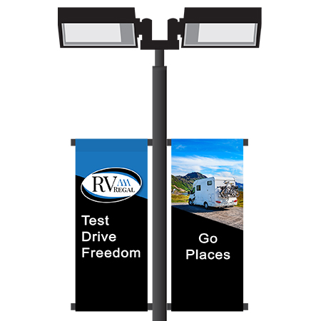 RV Dealership Double Sided Pole Banners | Banners.com