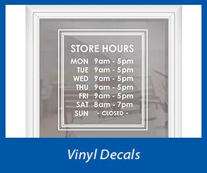 Adhesive VInyl Decals for Windows | Banners.com