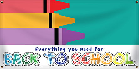 Custom Back to School Banner | Banners.com