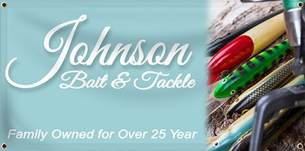 Bait & Tackle Banner | Banners.com