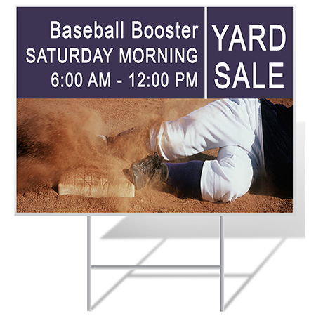 Baseball Yard Sign Sample | Banners.com