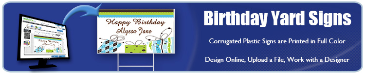 Happy Birthday Yard Signs | Banners.com