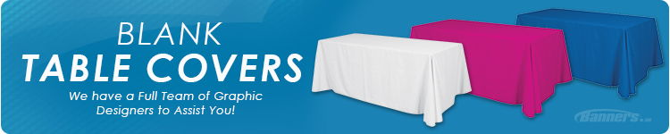 Blank Throw Table Covers | Banners.com