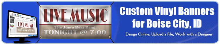 Custom Vinyl Banners for Boise City, ID from Banners.com