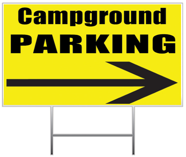 Campground Yard Sign Sample