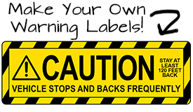 Warning Decals and Caution Decals | Banners.com