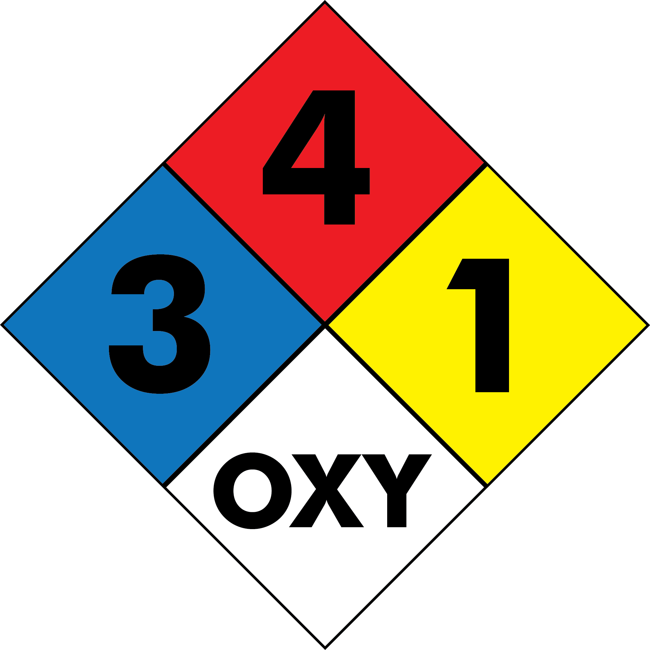 Chemical Hazard Squares Decal | Banners.com