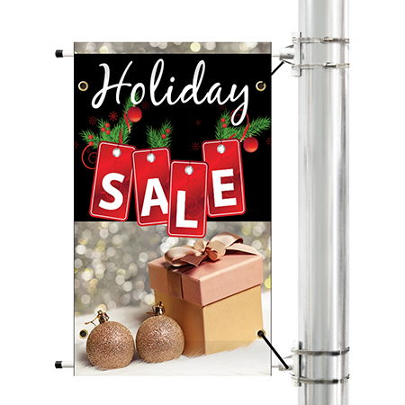 Holiday Pole Banners | Banners.com