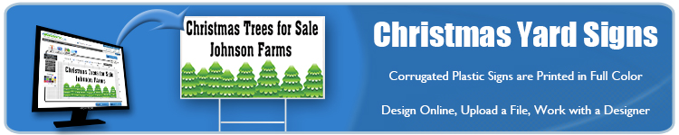 Christmas Yard Signs from Banners.com