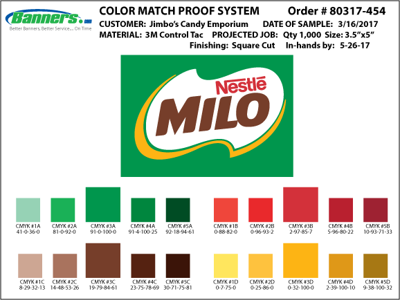 color match proof system