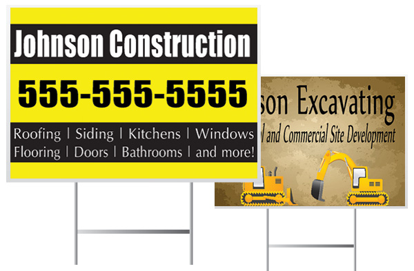 Construction Yard Sign Samples | Banners.com
