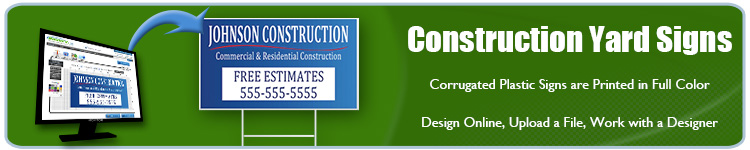 Construction Yard Signs | Banners.com