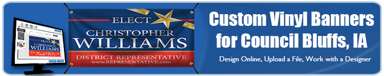 Custom Vinyl Banners for Council Bluffs, IA from Banners.com