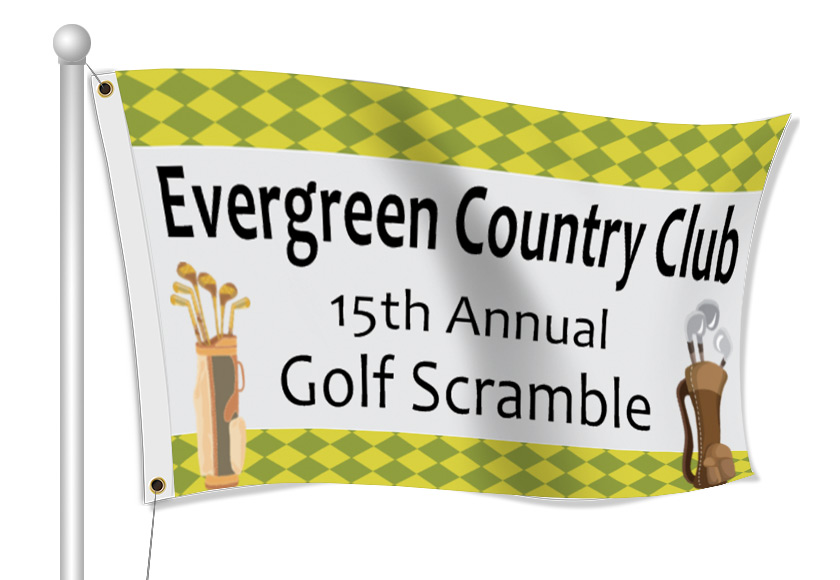 Fabric Flags for Country Club | Banners.com