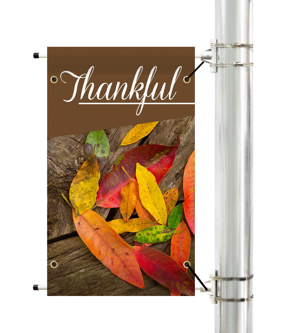 Thanksgiving Pole Banner | Banners.com