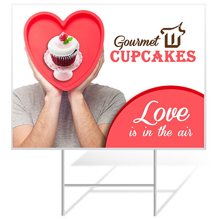 Custom Yard Signs for Valentine's Day Events