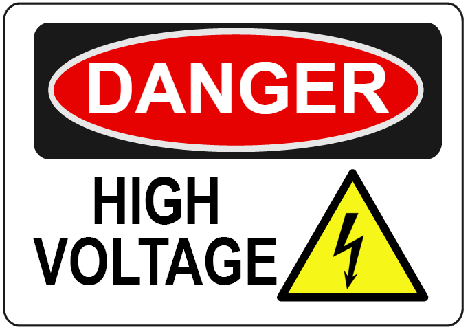 Danger High Voltage Decal | Banners.com