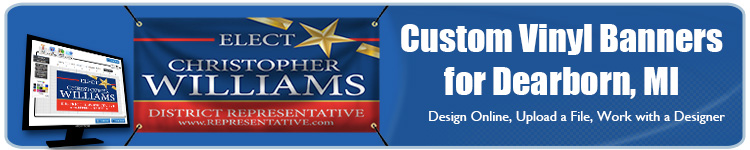 Custom Vinyl Banners for Dearborn, MI from Banners.com