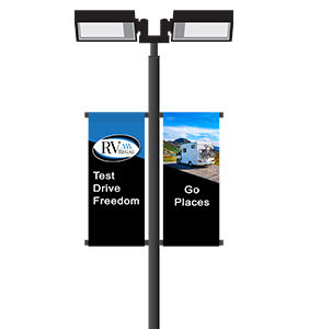 RV Dealership Custom Double Sided Pole Banners | Banners.com