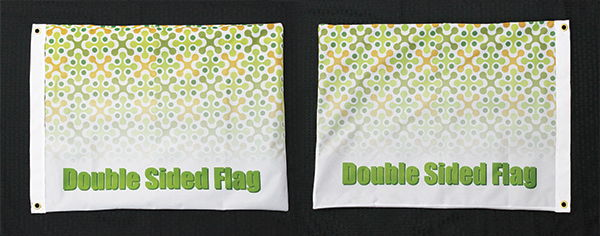 Double Sided Flag
