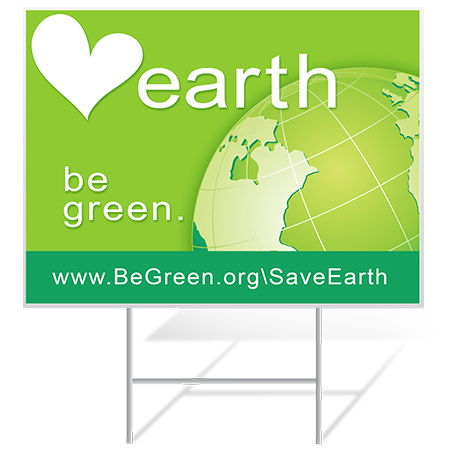 Earth Day Yard Sign Samples