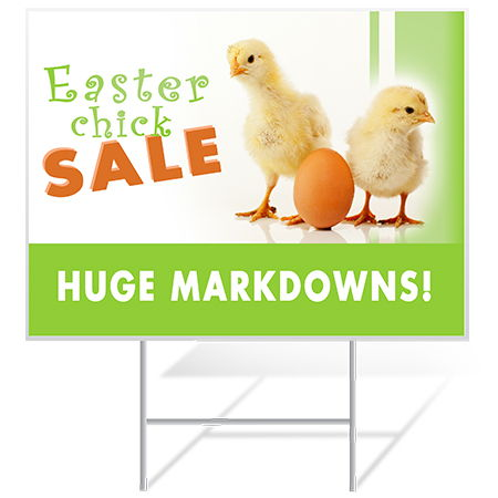 Easter Yard Sign Sample