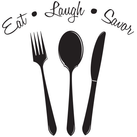 Eat Laugh Savor Wall Graphic