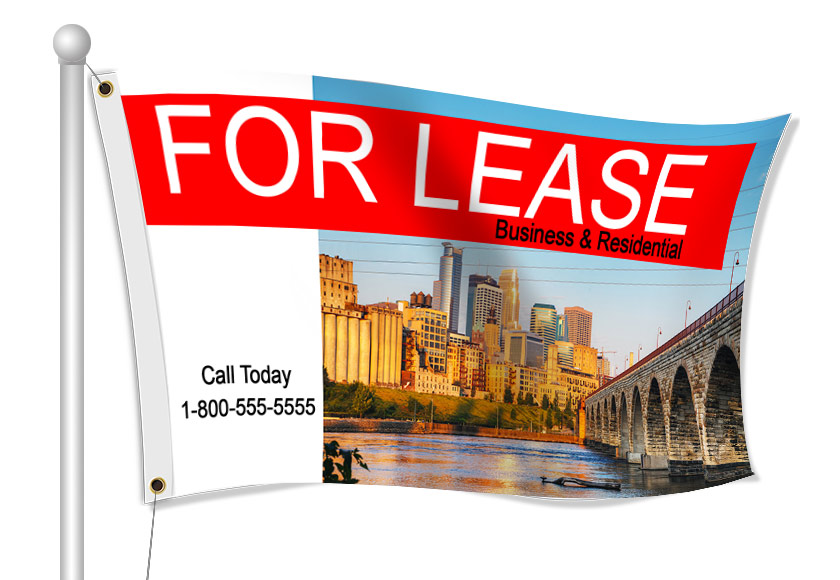 Fabric Flags for For Lease | Banners.com