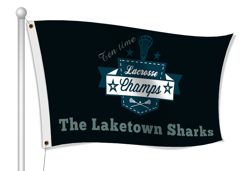 Custom Printed Lacrosse Fabric Flag | Banners.com