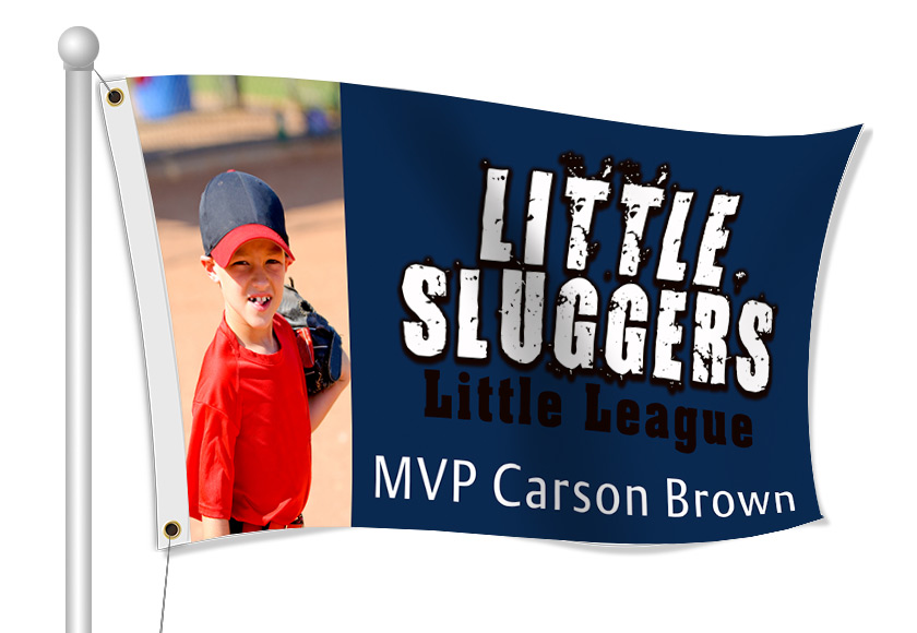 Custom Printed Little League Fabric Flag | Banners.com