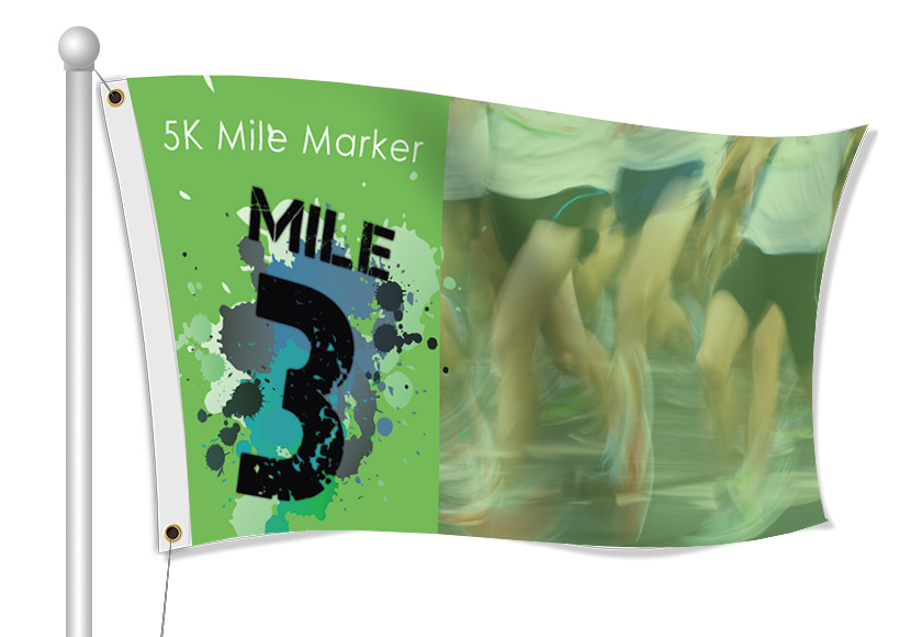 Custom Printed Mile Marker Fabric Flag | Banners.com