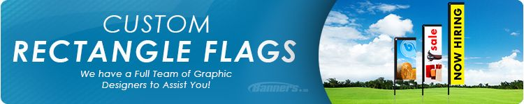 Rectangle Flags - Order Custom Rectangle Flags Online | Banners.com
