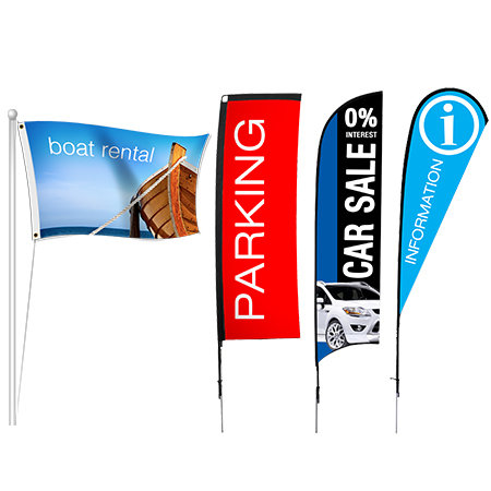 Business Fabric Flags | Banners.com