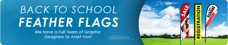 Back to School Feather Flags | Banners.com