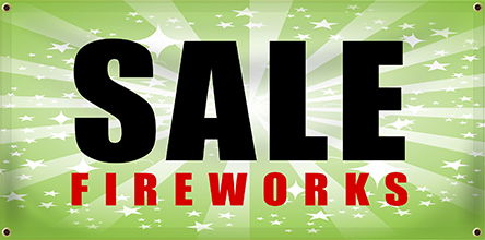 Custom Fireworks Stand Banners | Banners.com