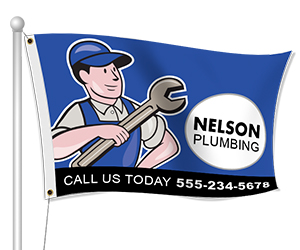 Fabric Flags for Plumbing Business | Banners.com