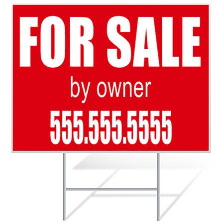 For Sale Yard Signs Samples | Banners.com
