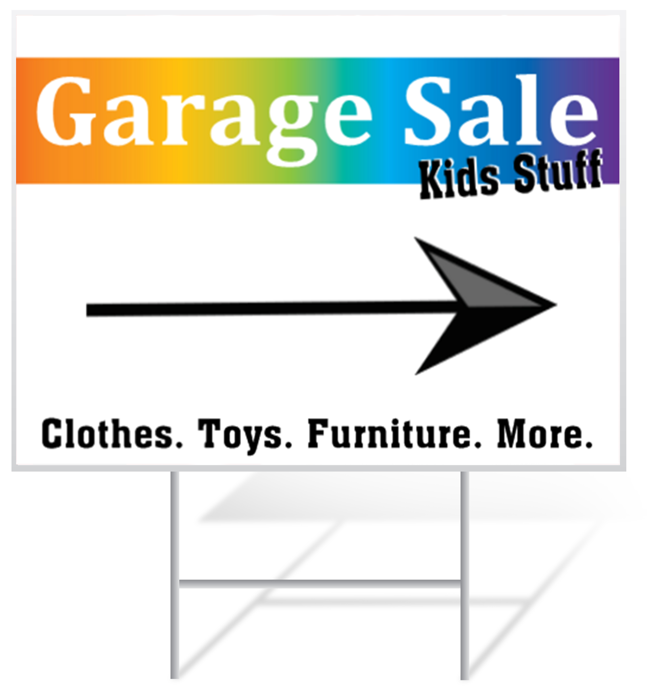 Garage Sale Yard Sign Samples