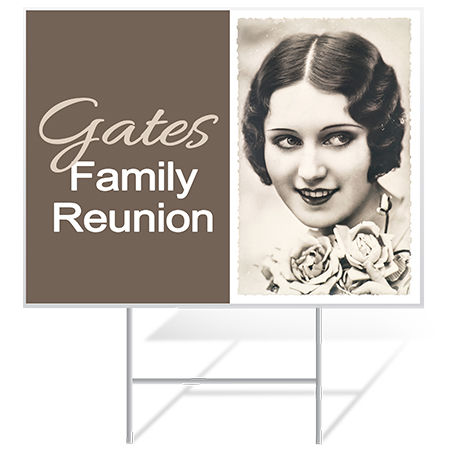 Family Reunion Yard Sign Samples from Banners.com
