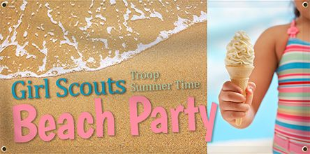 Girl Scouts - Beach Party Banner | Banners.com