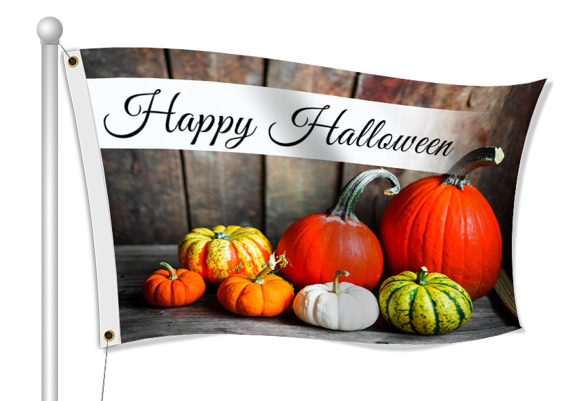 Happy Halloween Flags | Banners.com